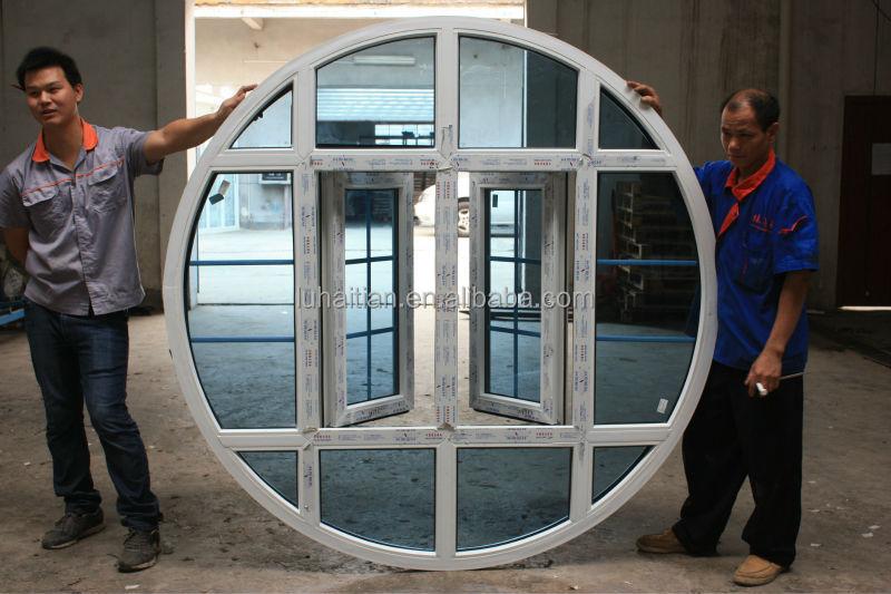 Design moderne pvc fen tre ronde avec tanche et fonction for Isolation fenetre film