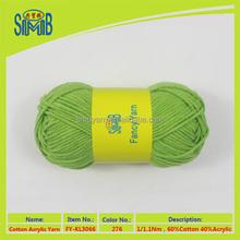 OEKO TEX 2015 china yarn mill export 1.1nm cotton-acrylic mixed yarn for knitting