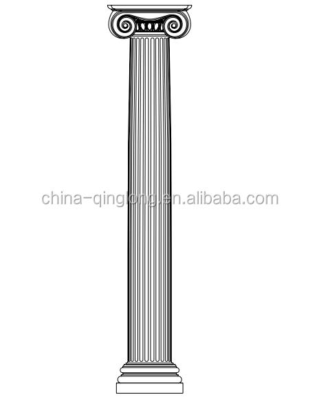 Grc frp fiberglass decorative roman column buy roman Decorative columns