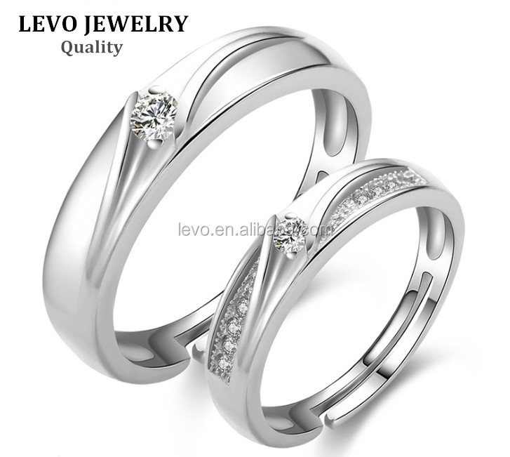 Silver couple rings with zircon sample wedding ring for Sample of wedding rings