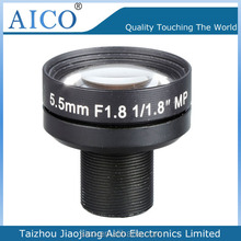 china top sale camera hd low distortion 3 mp 1/1.8 inch m12 f1.8 infrared camera lens 5.5mm
