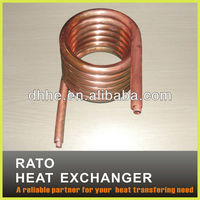 Double wall copper tube coil for water heat exchanger