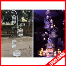 LBC020 best selling white make bird cage for stage and table top decoration