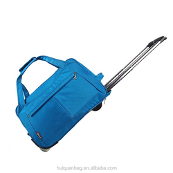 Men and women pull rod bag portable folding traveled duffel bag