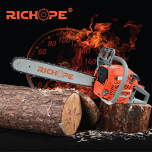 china gasoline high quality chain saw for firewood with best cylinder kits and walbro carburetor