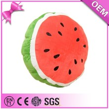 Professional custom cute cotton food plush watermelon toy pillows