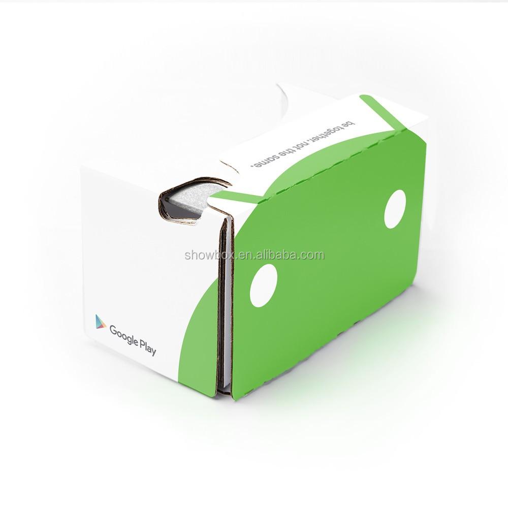 Christmas gift custom logo google cardboard VR 3D virtual reality headset (4).jpg