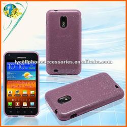 For Samsung D710 Galaxy S II Epic 4g touch new hotsale product Pink Cell phone glitter tpu cover case
