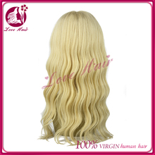 Premier Hair 24inch blonde brazilian hair full lace wig 613# full lace wig
