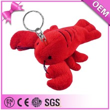 Promotional gift wholesale cute keychain plush red lobster toy, lobster stuffed toy