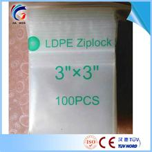 "CE ISO9001 Factory Polyethylene high quality 2"" x 3"" 2 mil clear white block zip lock bags"
