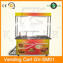 high quality stainless steel Mobile shop mobile trailer/ mobile kitchen food van for selling snacks and food