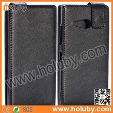 Black Magnetic Buckle Vertical Flip Leather Case for Nokia Lumia 730 For Huawei G521