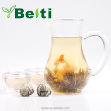 High quality beautiful art blooming flower tea made by superior green tea and flower