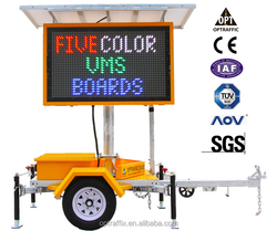 OEM 12 V Led Matrix Advertising Message Board Road Safety Traffic Warning VMS Sign Display Trailer Variable Message Sign