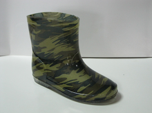 Camo anti-slip waterproof PVC Rain Boots ankle boots