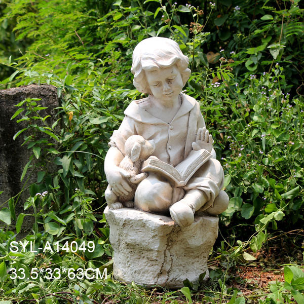 Perfect MGO Garden Sculpture Reading Little Boy Statue. SYL A14049.JPG