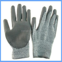 level 5 protection pu palm coated cut resistant gloves used in glass industry