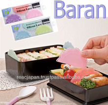 Silicon lace Baran lunch box inside divider and party supply for decorating plates