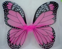 Hot sale fancy dress butterfly wings with feather decoration for ladies girls WG2032