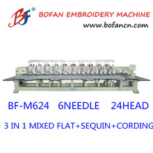 High Speed mixed Embroidery Machine Computer Operation 24 LH heads 1300RPM