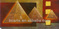 100%Handmade Modern Best Seller Geometric Cone painting on Quality Canvas