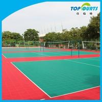 Sport court tiles, cheap rustic floors, composite outdoor Volleyball court flooring