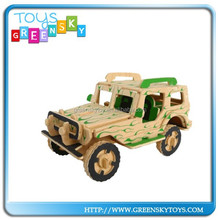 3D Wooden Puzzle New Fashion Wooden Car Toy