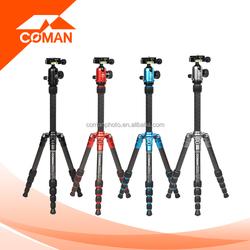 Carbon fiber material black/blue/red/titanium mini tripod for digital camera