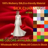 Silk Charmeuse Satin Fabric 30 MM 114cm Width 100% Pure Natural Silk Fabric Wholesale