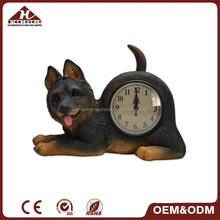 2015 swing dog shaped clock, resin dog clock