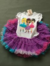100%cotton dress baby children 2-7years pink ballet skirt dress skirt of the girls