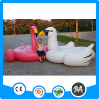 High quality 60inch giant pink inflatable flamingo ride on toys