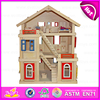 2015 new child wooden doll house High quality kids wooden doll house for boys W06A077-6