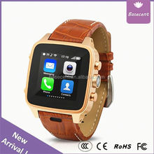 2015 New Wearable Devices Rectangle Micro Sim Card smartwatch Basecent Tech