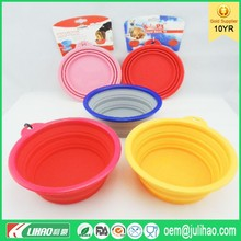 Pet Water Manufacturers Collapsible Silicone Dog Bowl