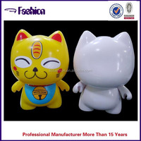 [SAMPLE FREE !! ]large plastic cat shape coin banks