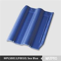 discount heat insulation fish scale blue ceramic roof tile