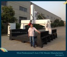 Factory Price ! 5 achsen cnc maschine schaumstoff / 3d scan 5 axis cnc router