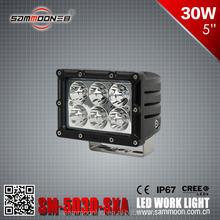 5inch led work light 30W led driving light for 4WD market 10-32V IP68 cree led work light for trucks