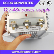 1000W plastic waterproof case boost converter converter 12v to 48v high voltage power supply for equipment medical