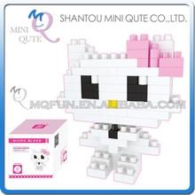 Mini Qute kawaii hello kitty girls gift diamond nano block plastic building blocks cartoon model educational toy NO.BY 8120A