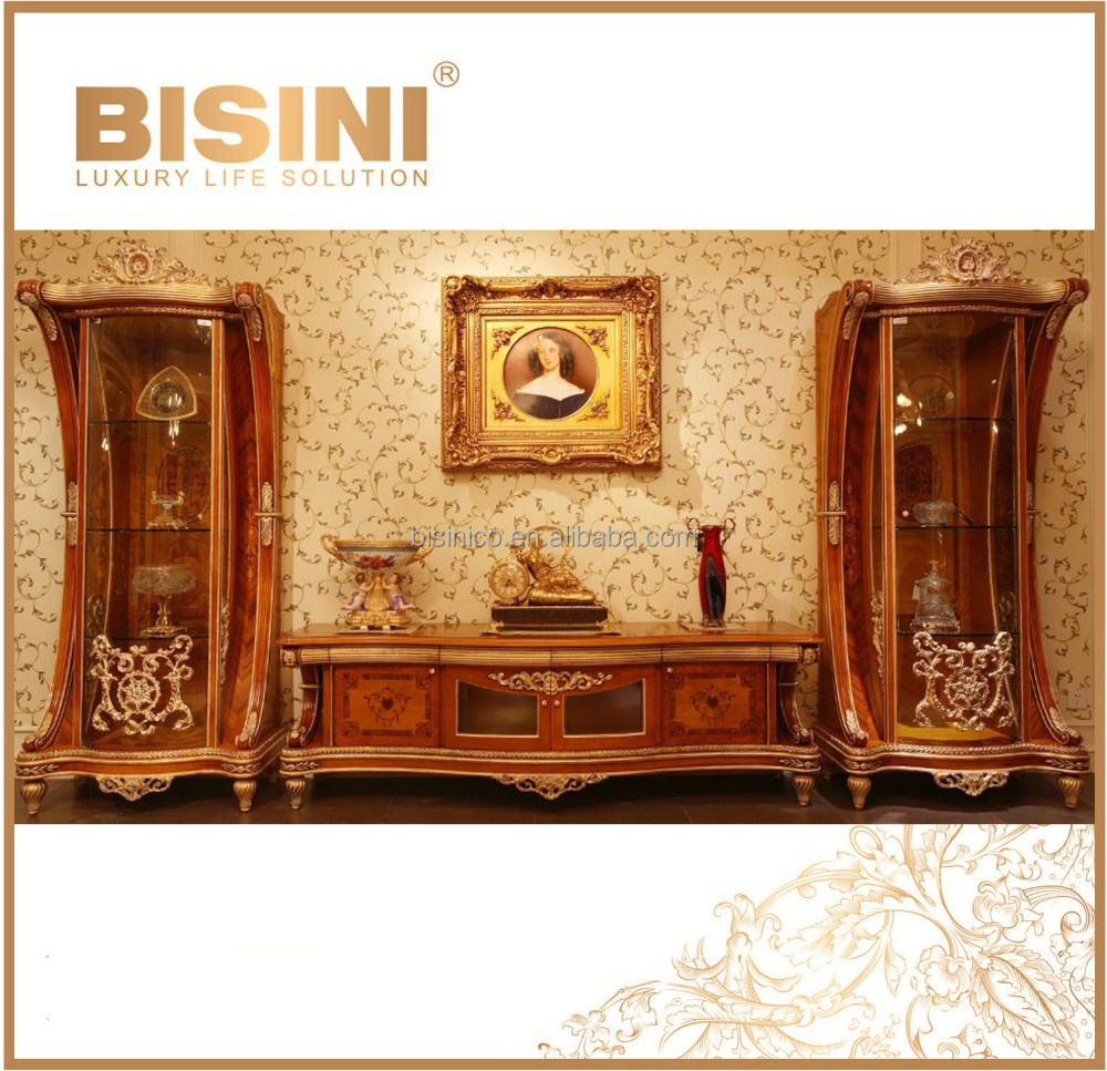 Luxury french rococo style tv stand fantacy vivid hand for French rococo furniture