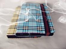 New business leisure series Folding folio Lattice PU leather tablet case