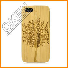 C-8055 Natural Handmade hard wood Bamboo Case Cover for iphone 5 with free screen protector