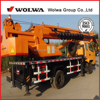 Wolwa factory T-King chassis 6ton ttruck mounted crane with drill GNQY-C6D