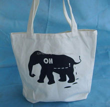 cotton sling cross body bag/ cotton canvas tote bag long handle/ 100% nature cotton bags
