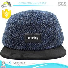 OEM/ODM label 5 panel cap wool,wholesale 5 panel cap, 5 panel baseball cap