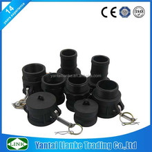 plastic water camlock hose quick coupling for grooved pipe
