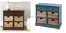 Wicker Drawer Cabinet Storaging Home Goods